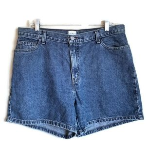 calvin klein vintage high-waisted mom jean shorts